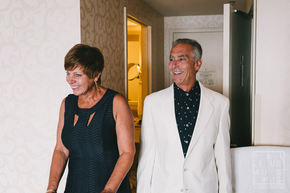 bride's parents see bride on a wedding day Holton Monona Terrace hotel