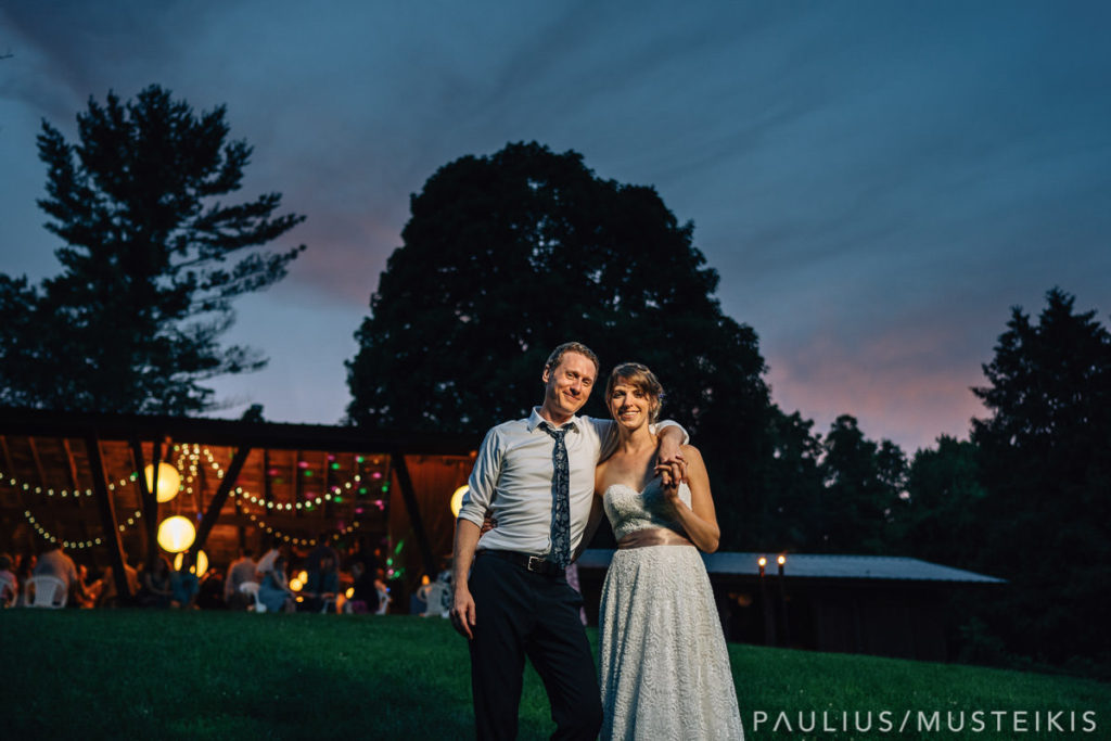 Portrait of bride and groom at the Hilltop, Spring Green wedding