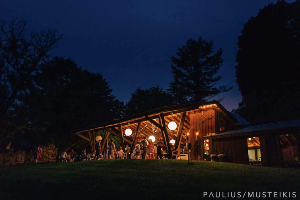 Hilltop Spring Green wedding venue at night
